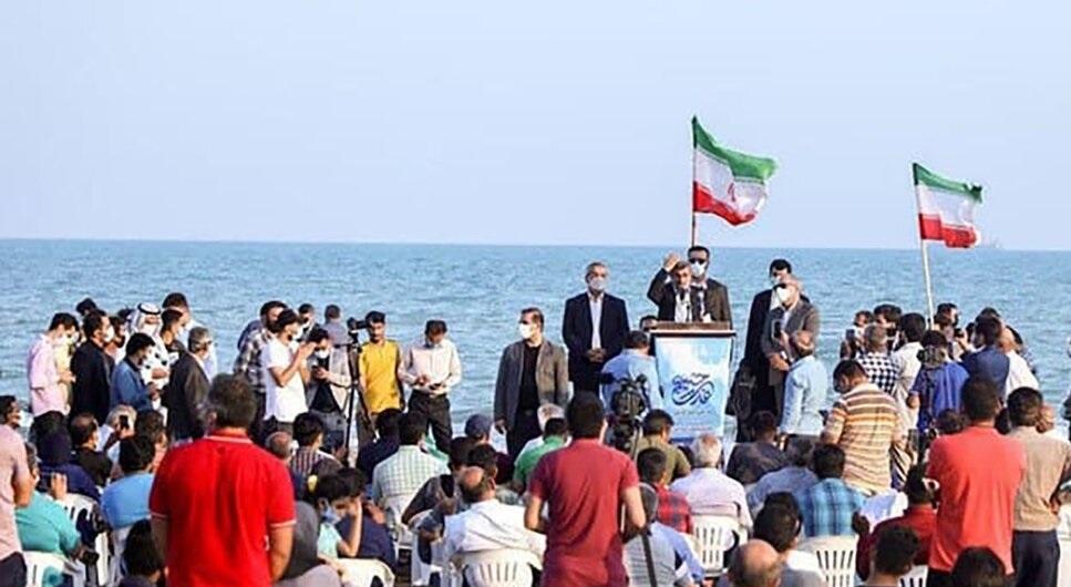 میتینگ انتخاباتی محمود احمدی نژاد در لب ساحل