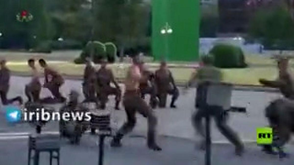 رزمایش بالیوودی در حضور رهبر کره شمالی! +فیلم