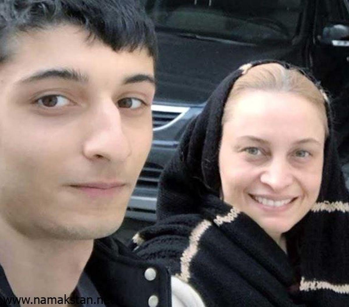 عکس باورنکردنی از مریم کاویانی در کنار پسربزرگش!