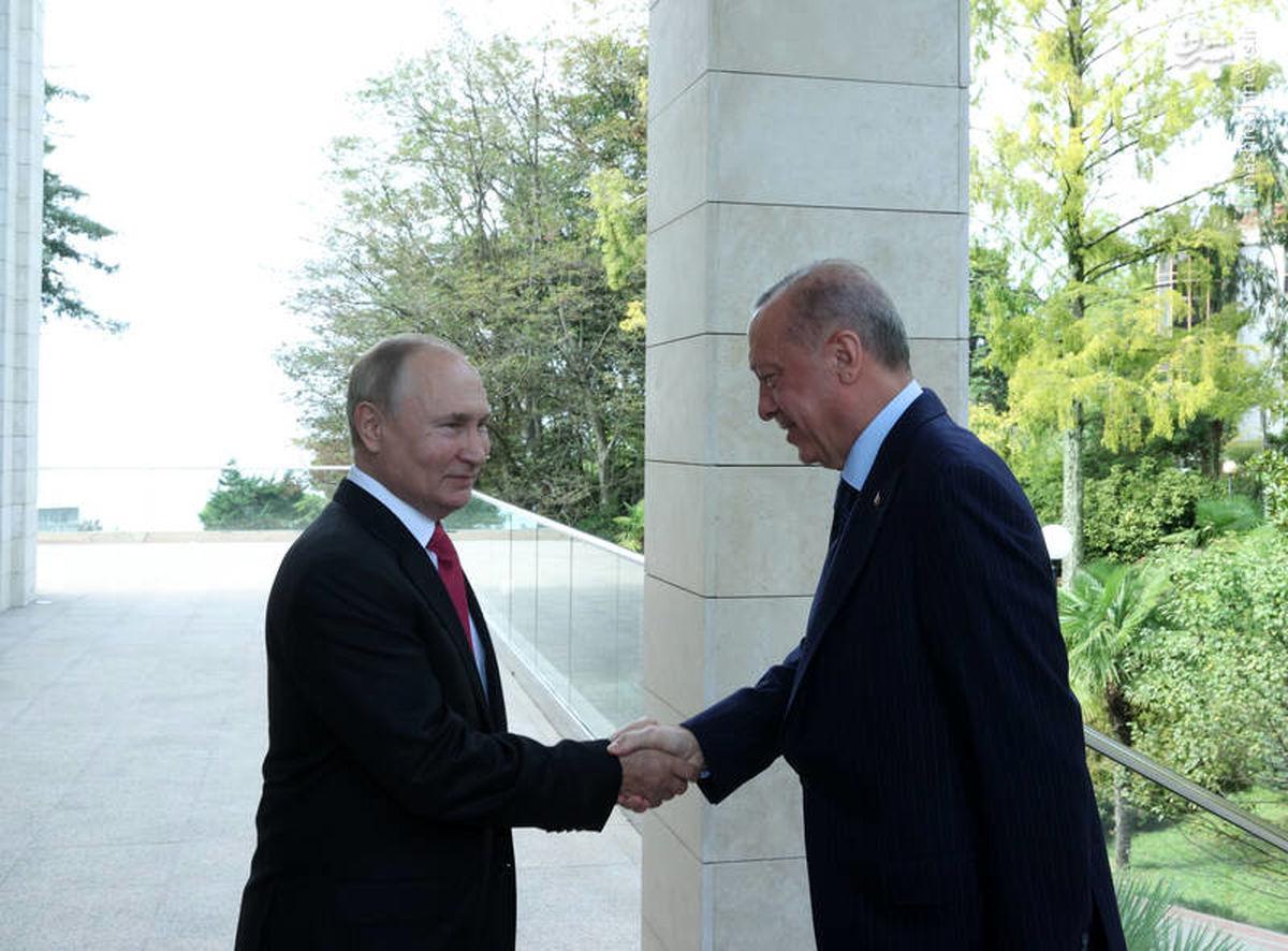 حرکت تحقیر کننده پوتین در مقابل اردوغان!+عکس