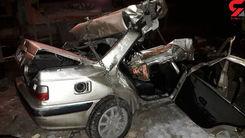 مرگ تلخ  پدر و دختر 4 ساله در تصادف وحشتناک