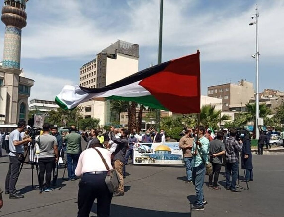 تجمع مردم تهران در حمایت از پیروزی فلسطین+عکس دیده نشده