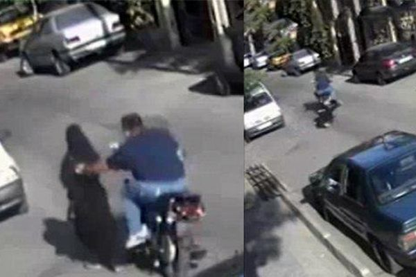 لحظه  وحشتناک حمله به زن تهرانی در قیطریه ! + فیلم