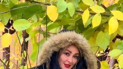 عکس الهام حمیدی و دوستش در باغ زیبا+عکس لو رفته