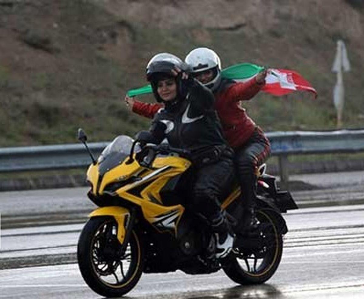 موتورسواری زنان در مراسم روز قدس+تصاویر لو رفته