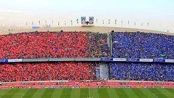 رنگ آمیزی ورزشگاه آزادی برای دربی ۹۴ پایتخت+عکس دیدنی